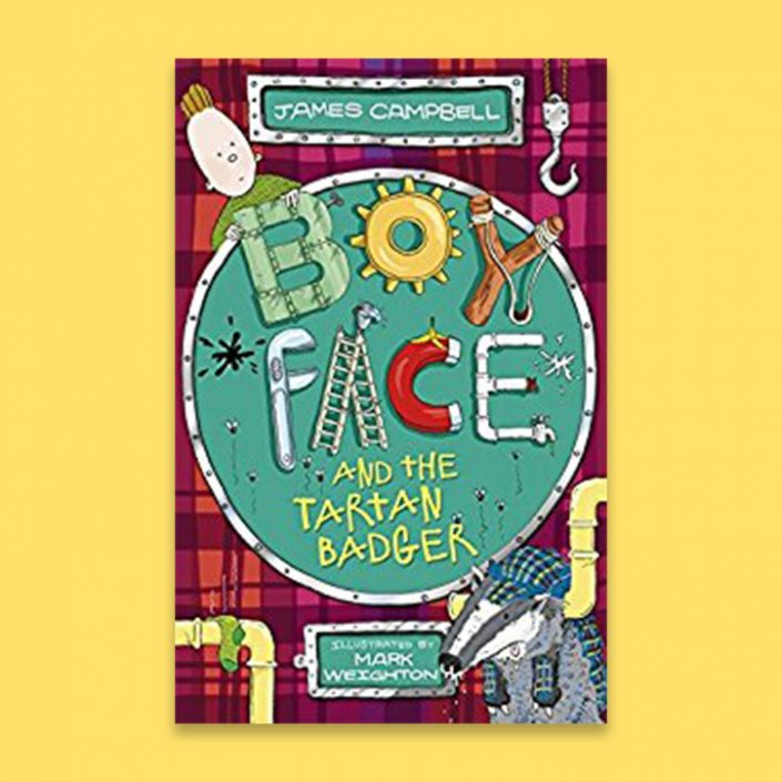 Boy Face and the Tartan Badger by James Campbell